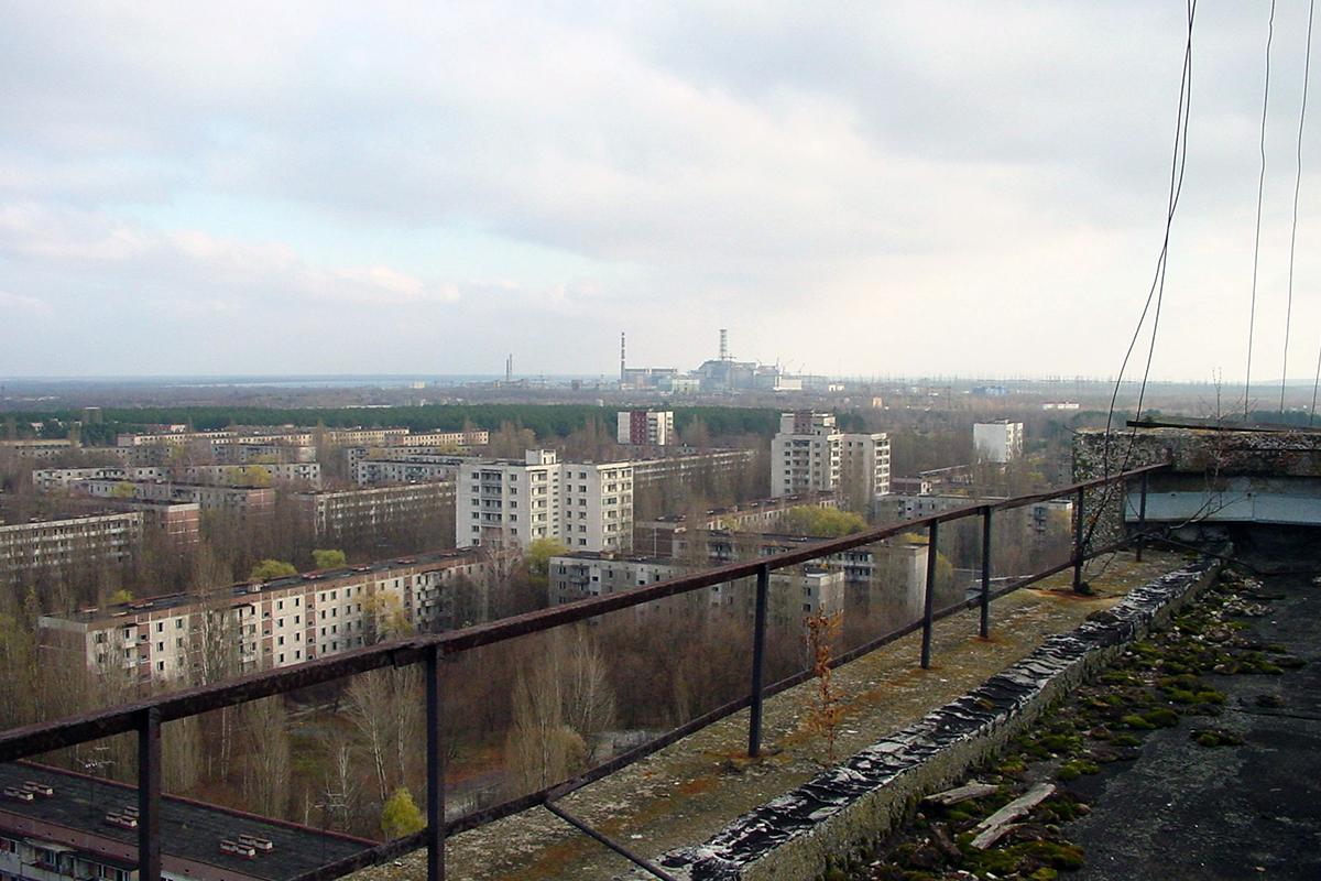 Vista de Txernòbil.