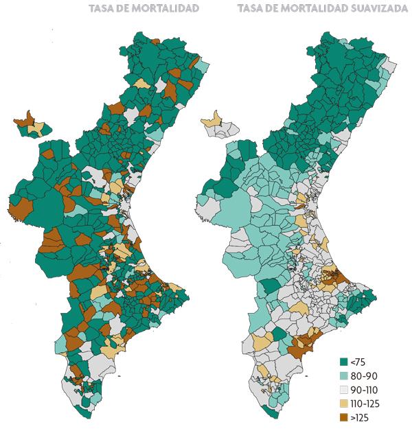 Estimación del riesgo de mortalidad por cáncer de cavidad oral y faringe para los municipios de la Comunidad Valenciana