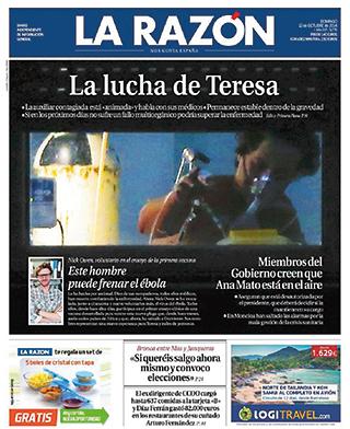 portada La Razón Teresa Romero