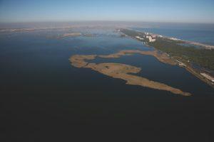 Vista aérea de la Albufera de Valencia.