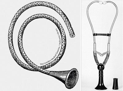 estetoscopio flexible y estetoscopio binaural