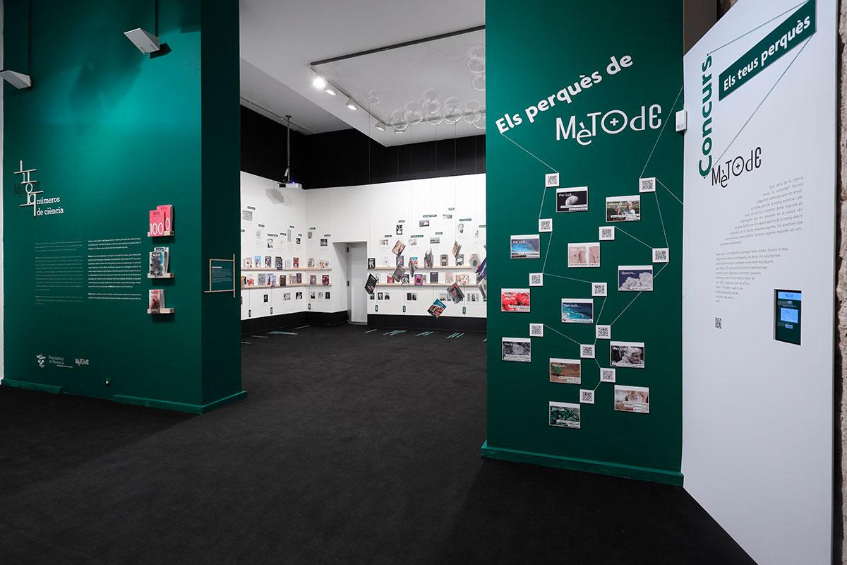 Racó dedicat als «perquès» de Mètode, on els visitants podran transmetre els seus propis perquès a través d'un dispositiu electrònic. Foto: XXX