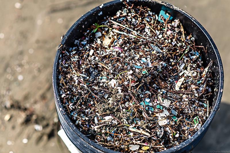 Fragmentos de microplásticos