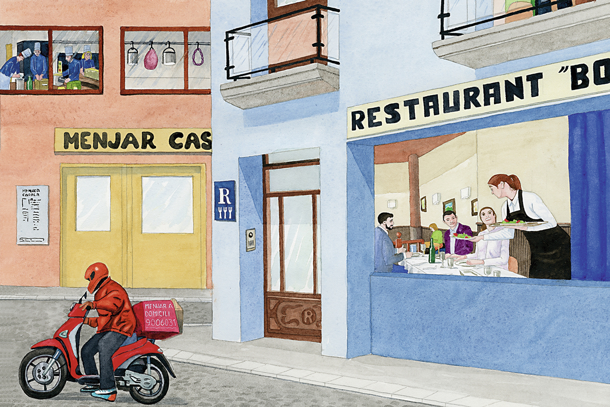 ilustración comercios alimentación listeria