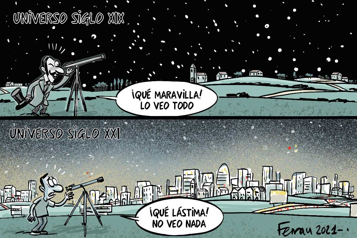 contaminación lumínica