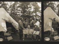 Mariano Ferrer, Jaume Ángel, Pius Font i Quer y Joan-Bautista Aguilar-Amat, en el campamento de Hauta-el-Kasdir